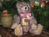 Hermann Germany Bear 1989 Ltd Ed. Lilly Lilac Tipped Long Mohair Growler 16 inch