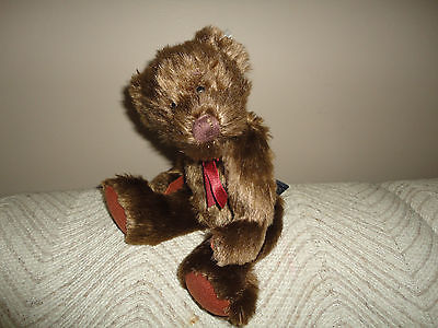 Ganz KIRBY Bear Heritage Collection Brown Faux Mohair 11in w Tags H3590 Retired