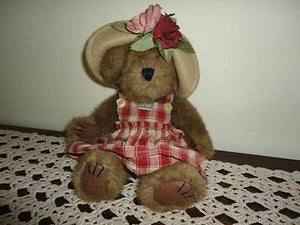 Boyds Aunt Phiddy Bearburn Teddy Bear Plush Brown Jointed LTD 10 Inch 2374/3600