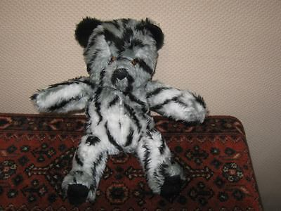 Vintage German OOAK Striped Teddy Bear