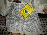 Original JESSIE Doll Quebec Canada 2 feet Paisley Dress