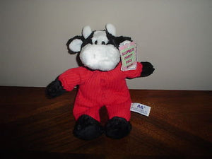 A&A Aurora Plush Slumber Party Pals Cow Plush 9 Inch All Tags 06583