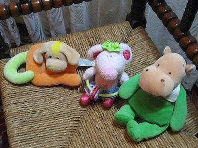Lot Of 3 Baby Toys Anna Club Holland Dog Rattle Playgro Mouse