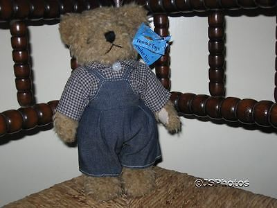 Tender Toys Holland Vintage Dutch Bear in Overalls