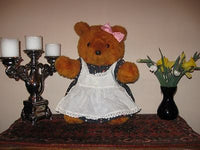 Vintage 70s German Brown Teddy Mother Bear 18 inch