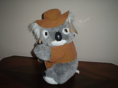 Australia Koala Bear HLT Handcrafted with Cork Hat 11 Inch Aussie Gifts