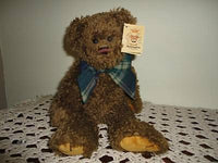 Bearington Raggles Brown Teddy Bear Jointed 1252 14 inch All Tags