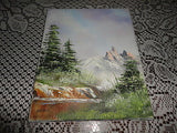 Original Oil Painting Landscape Signed MAILLE 87 Canadian Artist Canvas 10 x 8""