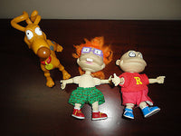RUGRATS Set of 3 Dolls Chuckie Tommy Spike Mattel Arco Toys