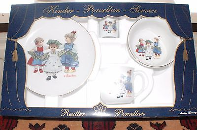 Original Kathe Kruse Reutter Porcelain Dishes Set New in Box Germany