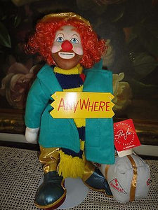 Applause 1988 Ron Lee Doll Collection GEORGIE CLOWN 2518 Stand All Tags Ltd Ed