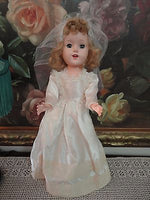 Vintage 1960s Walking Bridal Doll All Original Made Usa Porcelain Teeth 18 inch