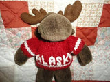 Arctic Circle Moose Brown Stuffed Plush Animal 9 Inch Anchorage Alaska