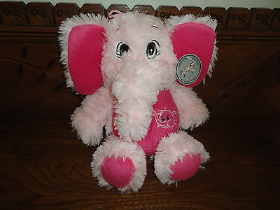 Carousel Soft Toys Pink ELEPHANT AMBER Baby Safe 24K Series NEW w TAGS 13 Inch