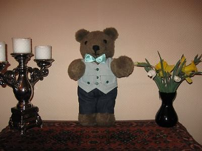 Vintage 70s German Dressed Bear 16 inch