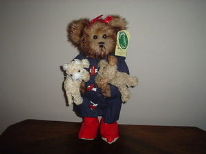 "Bearington 2002 Toby Teddy Bear Winner Raining Cats and Dogs 13"" 1303 RETIRED"