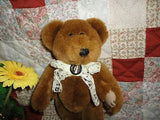 Ganz 1996 JOINTED BEAR CP2245 10 Inch Lace Ribbon & Tie