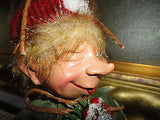 Bombay Company Winking ELF DOLL Green Ornament Poseable Figure 11 inch  RETIRED