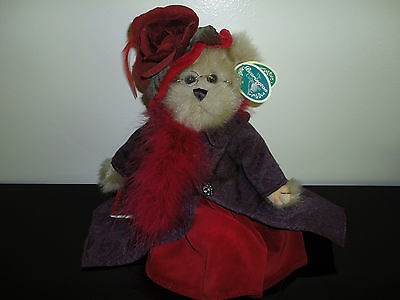Bearington Bears QUEEN FEDORA Handcrafted Jointed Ltd Edition Retired All Tags