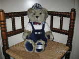 Austria Teddy Bear Gray Plush Millennium 2000 Collection 3D Promotion 17 Inch