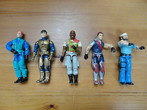 GI Joe Action Figures Mixed Lot 5 Hasbro 3.5 inch Assorted Characters Mixed Q