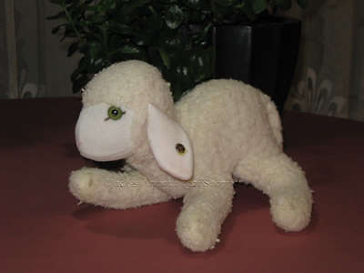Steiff Floppy Lamby 5725/20 1978 - 1982 Knitted Fur