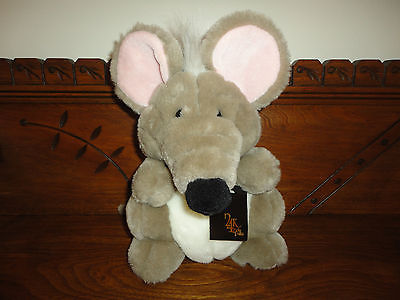 Mighty Star 24K Polar Puff KATRINA MOUSE Stuffed Toy 1992 New with Tags 4146