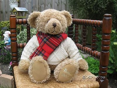 "Harrods Large Foot Dated 13"" Christmas Bear 2002 Giles"