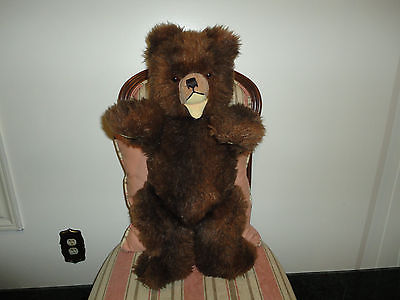 Hermann Germany Vintage Zotty Bear 2Ft LARGEST SIZE 23.6 Inch Working Squeaker