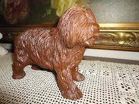 SHEEPDOG Heavy Resin Carved Statue Figurine 7 x 5.5 inch