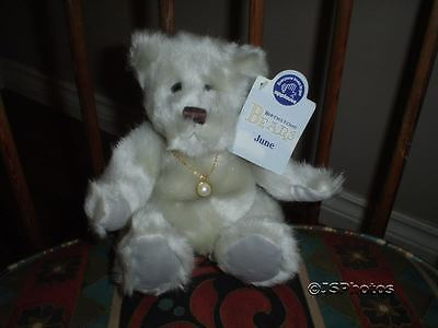 Applause Birthday Birthstone Baby Bears June Bette 20361 New with Necklace 2002