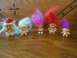 Mini Trolls Lot of 5 Santa Baby / Crawling Diaper Baby  / Pencil Topper and more