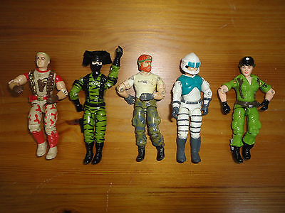 GI Joe Action Figures Mixed Lot 5 Hasbro 3.5 inch Assorted Characters Mixed F