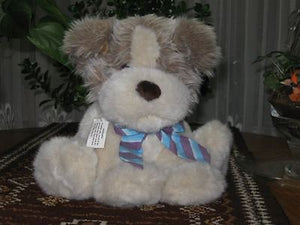 Dutch Sitting Plush Dog All Tags