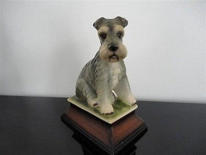 Vintage Japanese Schnauzer Porcelain Dog Figurine 6x5x3 Inch Marked