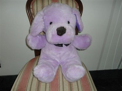 "Vintage 1980's LARGE DOG 23"" Purple Plush Best Made Toys Toronto"