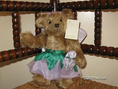 Russ Past Times UK Mirabelle Fairy Bear with Tags Faux Mohair