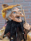 Halloween Witch Artist Designed Large 25 In Tall Handmade Europe 1980s