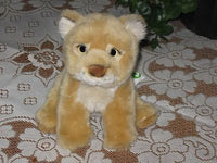 L Dake & Zn Holland Sitting Lion Cub Plush