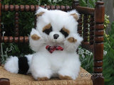 Dutch Holland  White Raccoon Stuffed Plush Toy