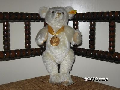 Steiff Danbury Mint UK 2000 Millennium White Mohair Bear 654701 Rare
