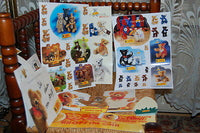Steiff Bear RARE Collectibles Lot of Sticker Set Dominos Day Planners Notepad