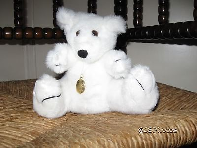 Dragon Toys LTD UK White Bear Golden Colored Medallion