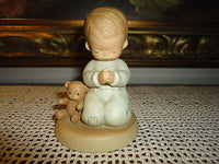 Enesco Mabel Lucie Attwell Memories of Yesterday Boy Praying w Teddy 114499 1987