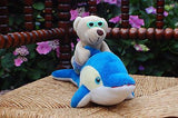 Trend Toys Apeldoorn Netherlands Plush Bear Riding a Dolphin 11 inch