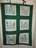 Smile QUILT Handcrafted Canada Waterloo 6 Story Panels Green 31 x 42 inch Cotton