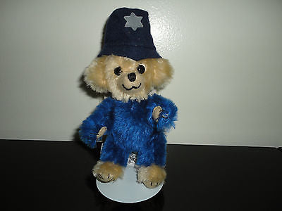 Merrythought CHEEKY ON THE BEAT Police Bear Blue Mohair Ltd Edition 352/500 UK