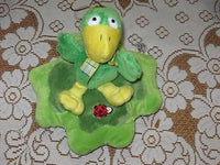 Nicky Toy Holland Duck & Ladybug on Leaf Plush Toy