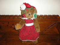 Bearington Bears JACKIE Polka Dot Dress Item 1539 w tags 14 inch Retired