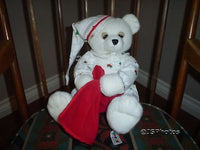 Aurora Christmas Teddy Bear Handmade in Pajamas